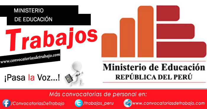 Convocatorias minedu 2018 trabajos empleos ministerio de Convocatoria docentes 2016 ministerio de educacion