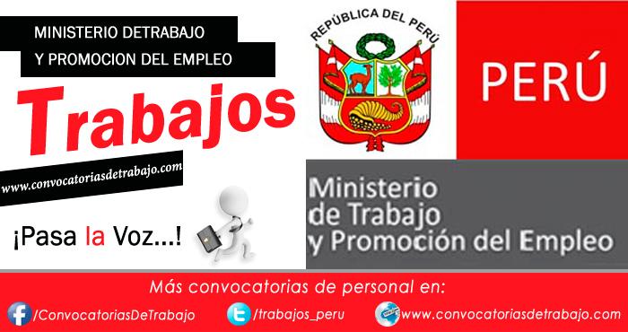 Convocatorias mintra 2018 trabajos empleos ministerio de for Ministerio de trabajo