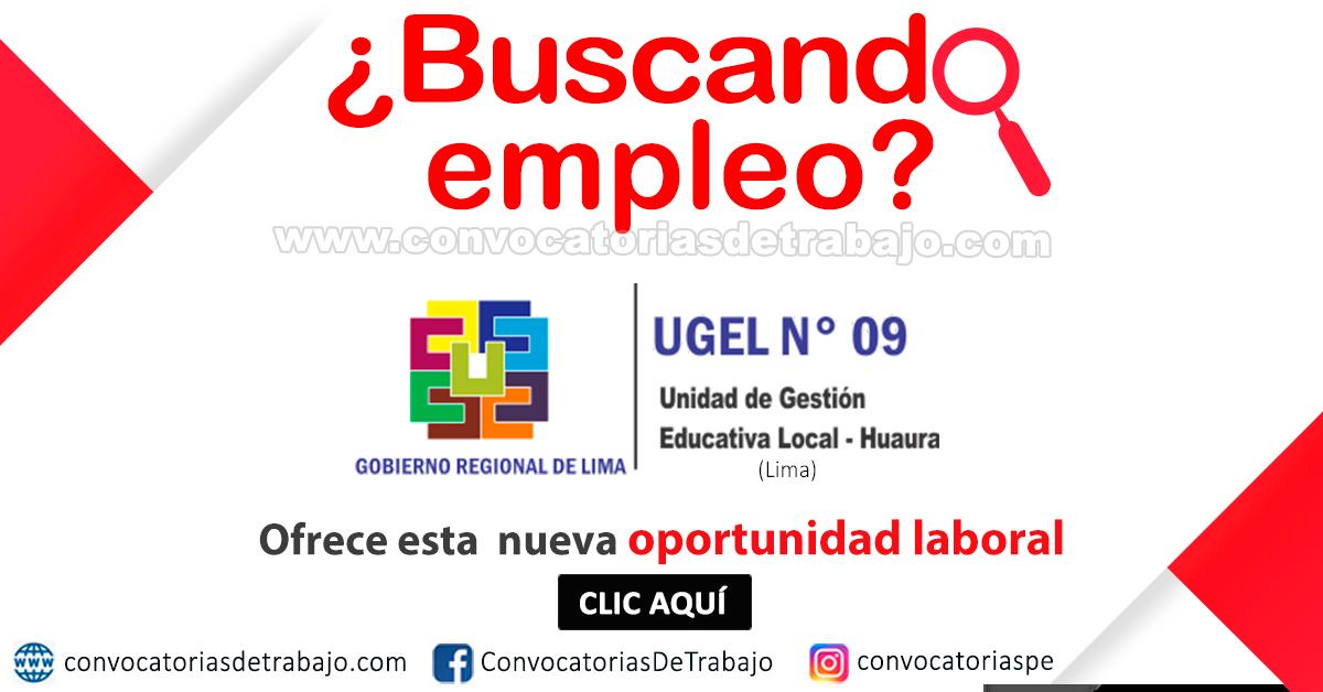 CONVOCATORIA 2019 UGEL-9: 6 - Técnicos, Especialista en